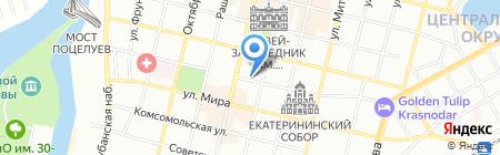 Саквояж на карте Краснодара