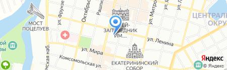 Гвин на карте Краснодара