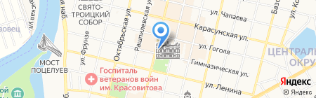 Централь на карте Краснодара