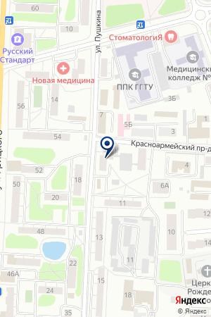 ОБЩЕЖИТИЕ ОРЕХОВО-ЗУЕВСКИЙ ТЕКСТИЛЬНЫЙ ТЕХНИКУМ на карте Орехово-Зуево