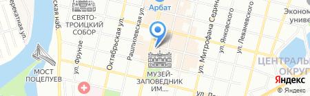 Краснодар на карте Краснодара