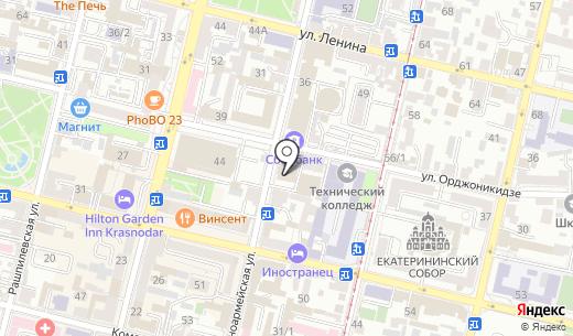Управление пенсионного фонда РФ в Западном внутригородском округе г. Краснодара. Схема проезда в Краснодаре