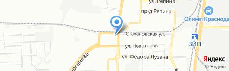 Беседка на карте Краснодара