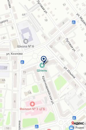 ПРОДОВОЛЬСТВЕННЫЙ МАГАЗИН ТАТЬЯНА-2 на карте Красноармейска