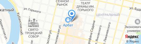 Молодежная Элит на карте Краснодара