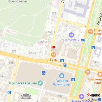 г. Краснодар, ул. Рашпилевская, на карта
