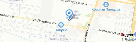 Новострой-ЮГ на карте Краснодара