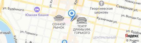 Кубанские сувениры на карте Краснодара