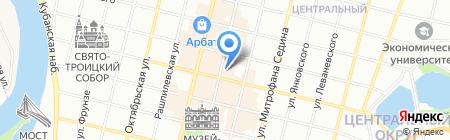 Спутник на карте Краснодара