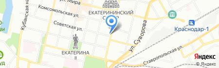 Парфенон-Стоун на карте Краснодара