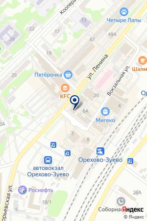 ТФ ПАЛИТРА на карте Орехово-Зуево
