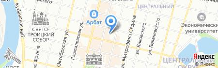 Атика на карте Краснодара