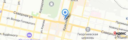 Банкомат АКБ Мособлбанк на карте Краснодара