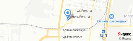 Самира на карте Краснодара