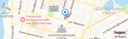 Екатерининские мастерские на карте Краснодара