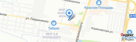 У Надежды на карте Краснодара