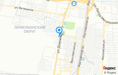 Местоположение на карте пункта техосмотра по адресу г Краснодар, ул им. Дзержинского, д 163