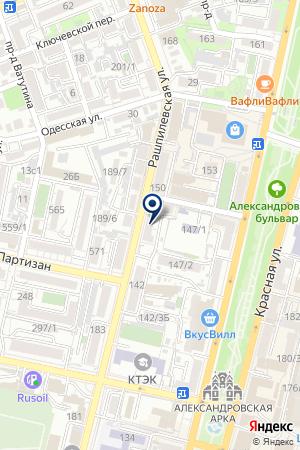 Продуктовый магазин на Рашпилевской на карте Краснодара