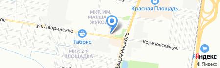 Домбай на карте Краснодара