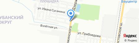 Мерс-Авто на карте Краснодара