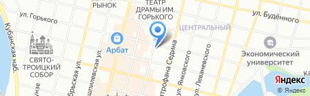 Лазер-штамп на карте Краснодара