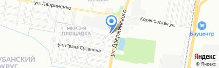 Ниппон на карте Краснодара