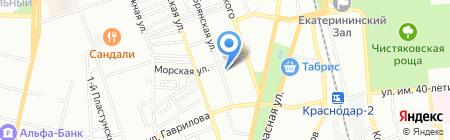 Уютный уголок на карте Краснодара