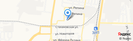 Эконом и Я на карте Краснодара