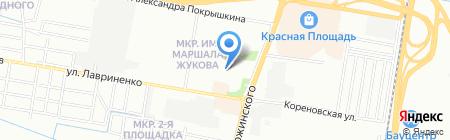 Детский сад №107 на карте Краснодара