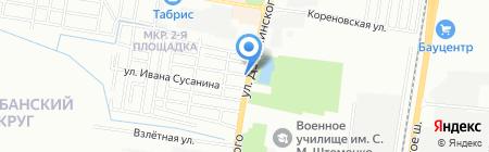 Хлебосольное на карте Краснодара