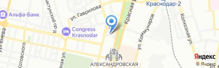 Юг-Игрушка на карте Краснодара