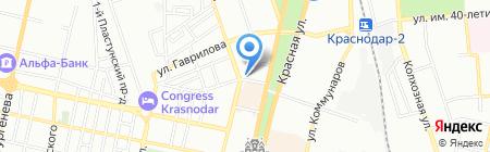 Адвокат Васильев В.Ф. на карте Краснодара