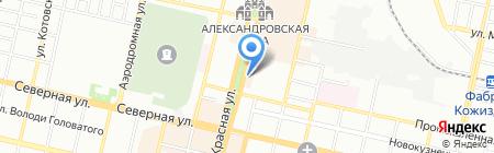 Идеал на карте Краснодара