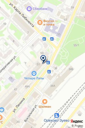 МАГАЗИН ОПТИКА на карте Орехово-Зуево