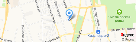 Краснодарская объединенная техническая школа ДОСААФ России на карте Краснодара