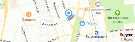Евромост-Защита на карте Краснодара