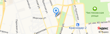 Центр на карте Краснодара