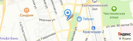 Детский сад №75 на карте Краснодара