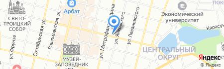 Арабеск на карте Краснодара
