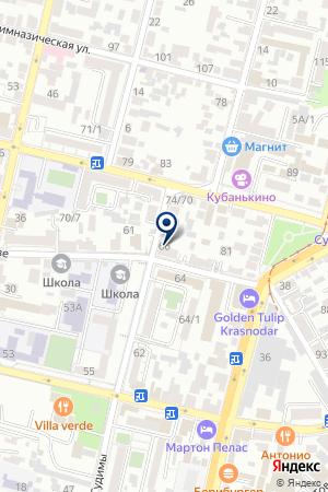 САЛОН ОДЕЖДЫ ГРАНД-СТИЛЬ на карте Краснодара
