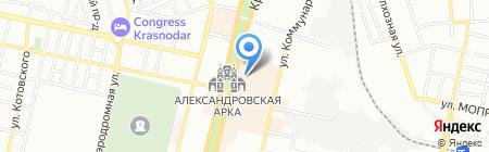 Вертро на карте Краснодара