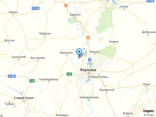село Медвежье на карте