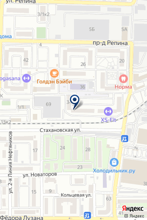 Продовольственный магазин на проезде Репина на карте Краснодара