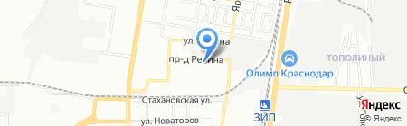 Завод железобетонных изделий №1 на карте Краснодара