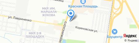 Югармстрой на карте Краснодара