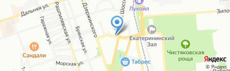 Нинель на карте Краснодара