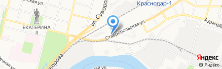 РиЗ на карте Краснодара