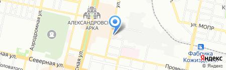 Ломоносов на карте Краснодара