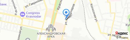 Авангард Сити на карте Краснодара
