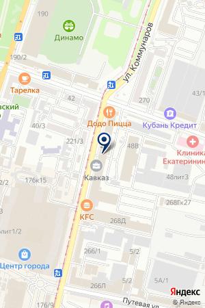 ТФ КАВКАЗ-МЕБЕЛЬ на карте Краснодара